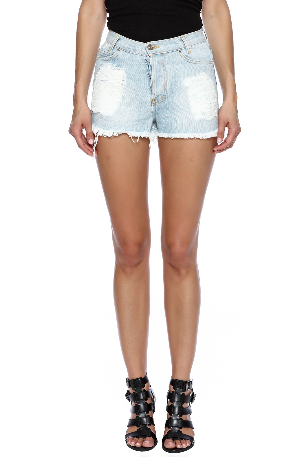 John Galt Light Denim Shorts from Austin by Cotone u2014 Shoptiques