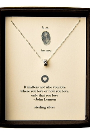 b.u. Jewelry John-Lennon Quote Necklace - Product Mini Image