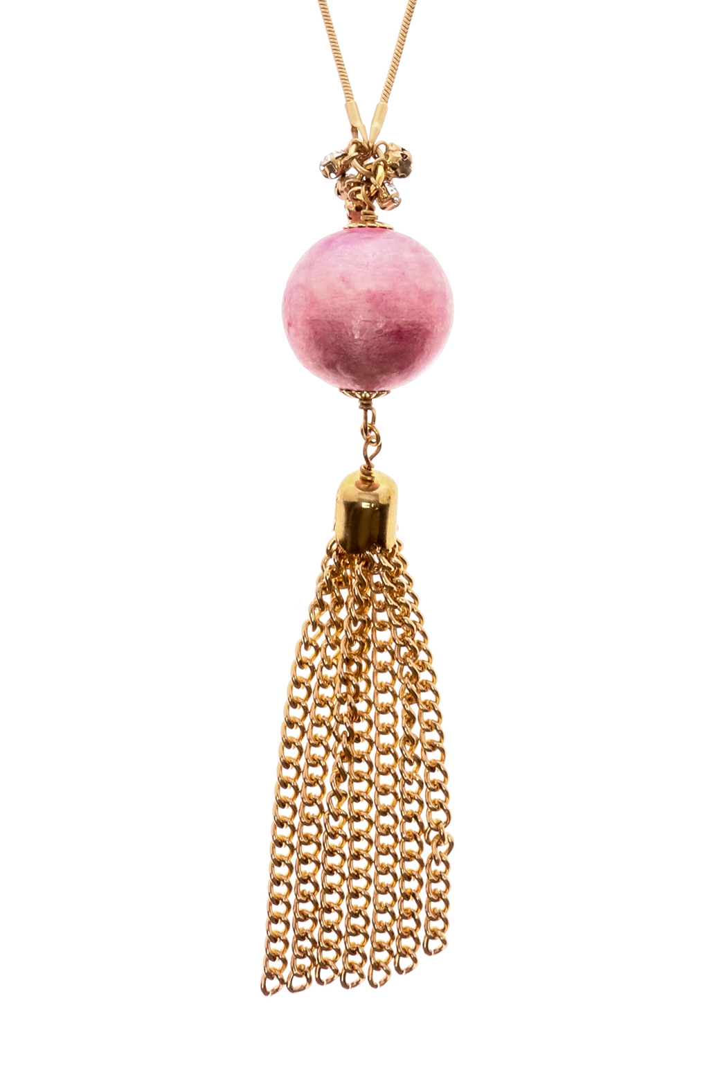 John Wind Pink Ball Necklace - Front Full Image
