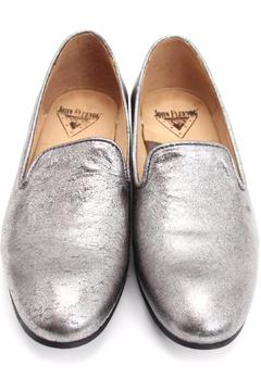 John Fluevog Chacha Silver Loafer - Alternate List Image