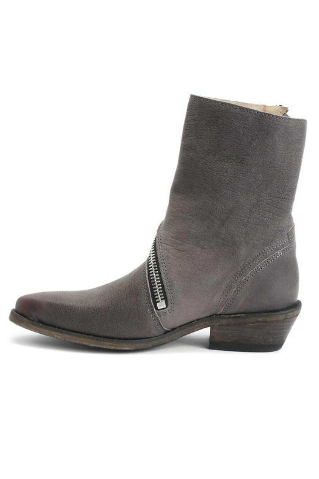 John Fluevog Grey Bootie - Side Cropped Image
