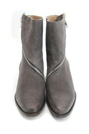 John Fluevog Grey Bootie - Back cropped