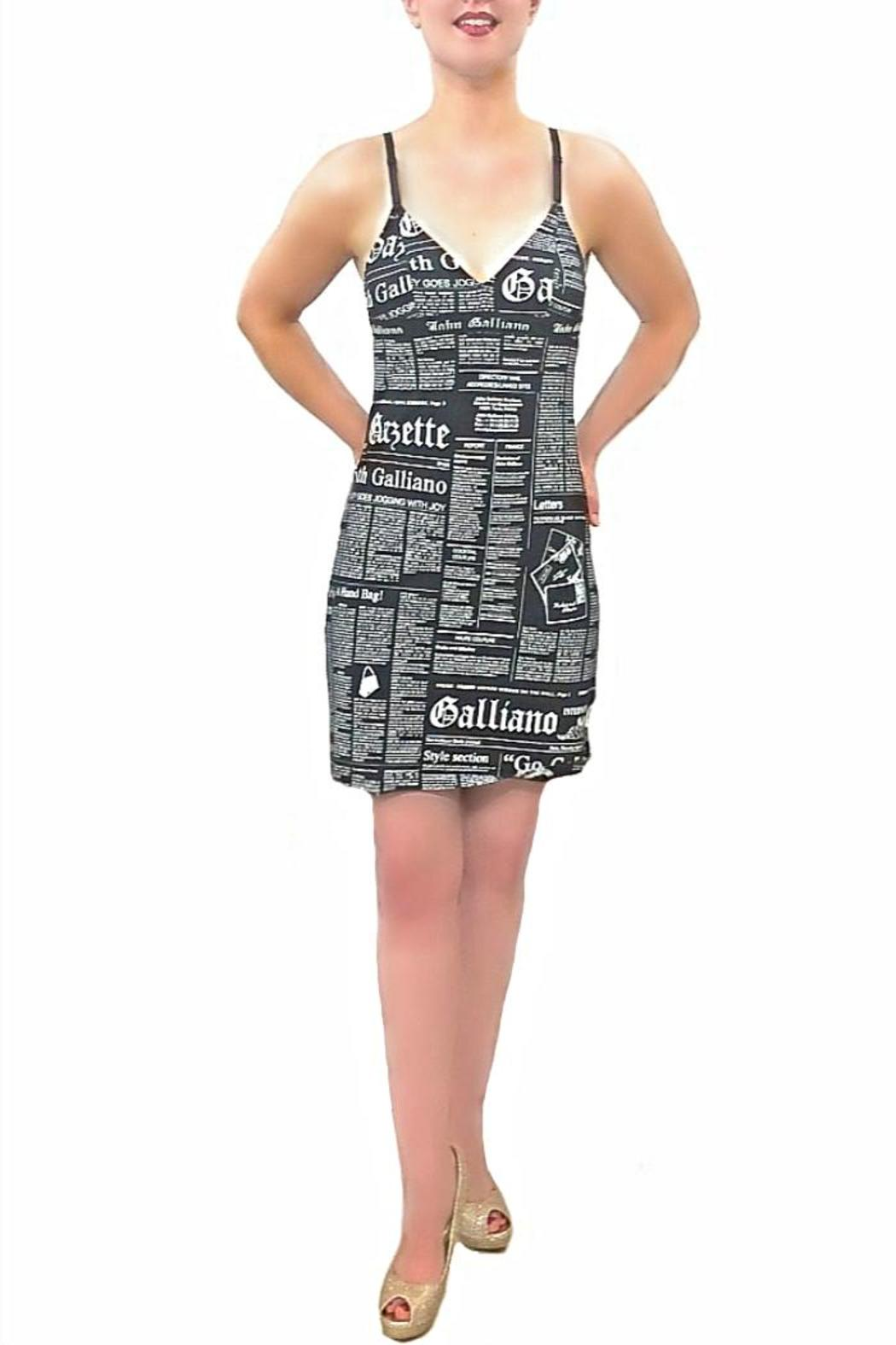 b9a765370125f John Galliano Black Newspaper Dress from Portland by Moods of ...