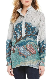 John Mark Sequin Print Tunic - Front cropped