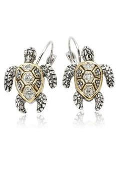 JOHN MEDEIROS Turtle Clip Earrings - Alternate List Image