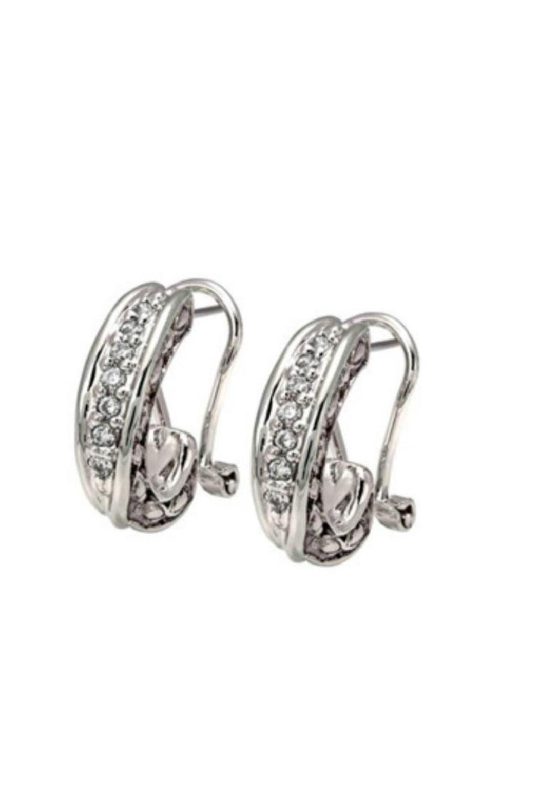JOHN MEDEIROS Pave Post-Clip Earrings - Main Image