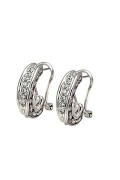 JOHN MEDEIROS Pave Post-Clip Earrings - Alternate List Image
