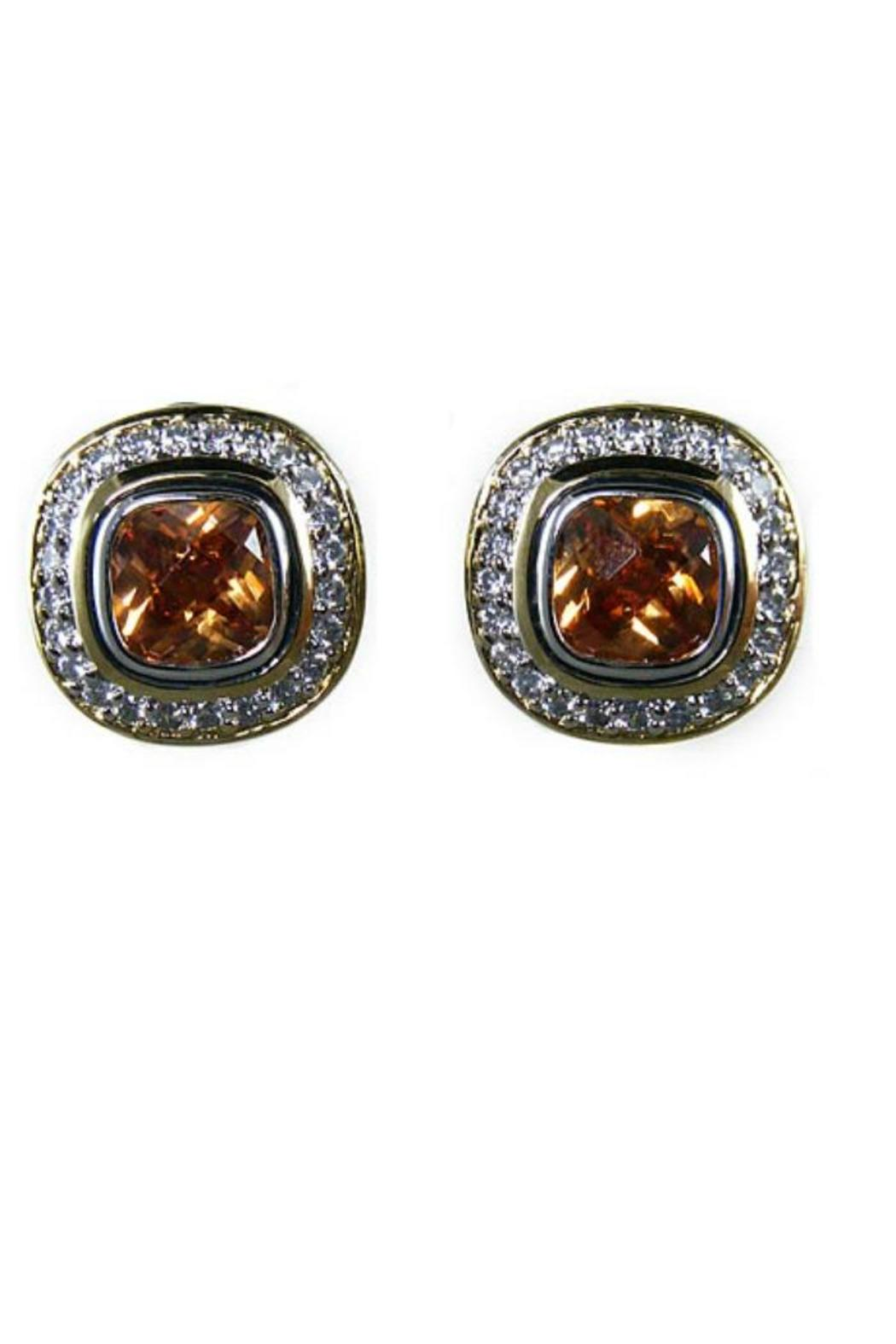 JOHN MEDEIROS Post-Clip Pave Earrings - Front Cropped Image