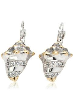 Shoptiques Product: Seashell-Pavé Fish-Wire Earrings