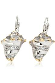 JOHN MEDEIROS Seashell-Pavé Fish-Wire Earrings - Product Mini Image