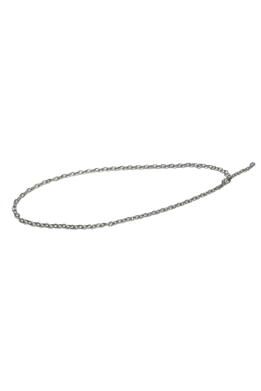 JOHN MEDEIROS Seaside-Anchor Two-Tone Necklace - Front Cropped Image