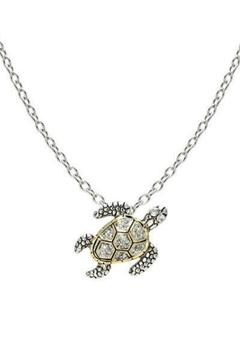 Shoptiques Product: Seaside-Pave Turtle Necklace