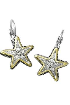 JOHN MEDEIROS Starfish-Pavé Fish-Wire Earrings - Alternate List Image
