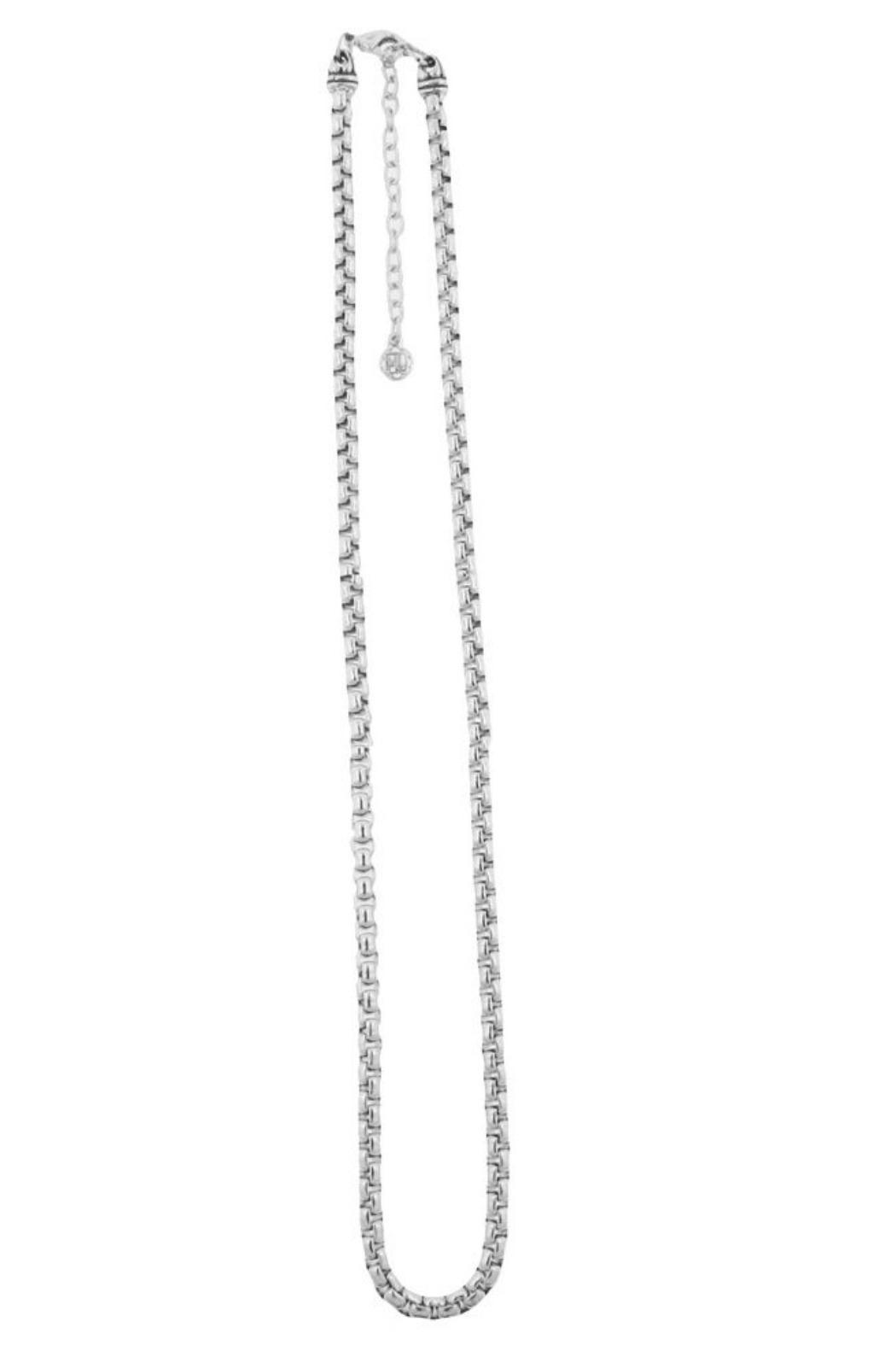 JOHN MEDEIROS Vertical-Oval Pave Necklace - Front Full Image