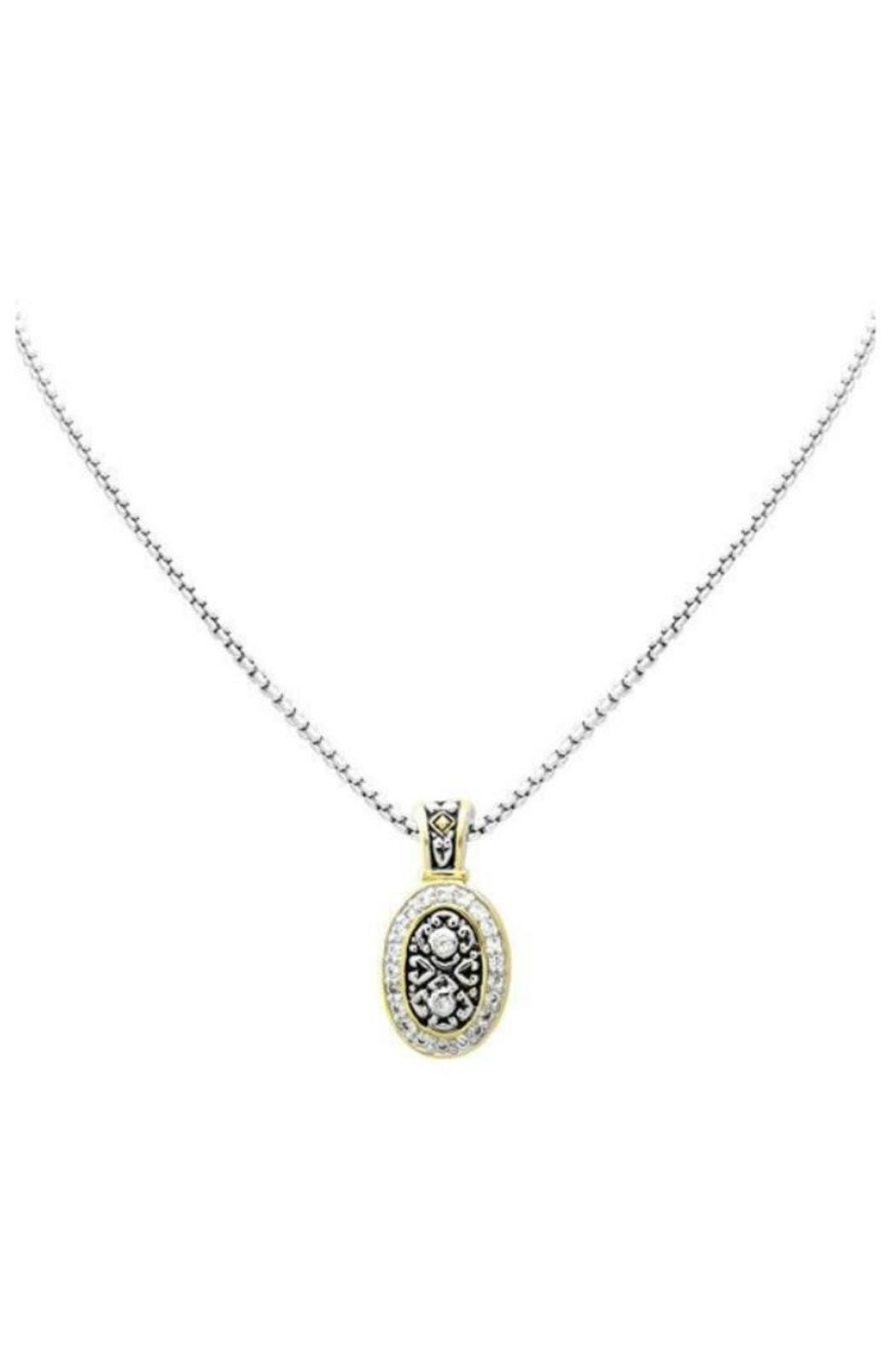 JOHN MEDEIROS Vertical-Oval Pave Necklace - Main Image