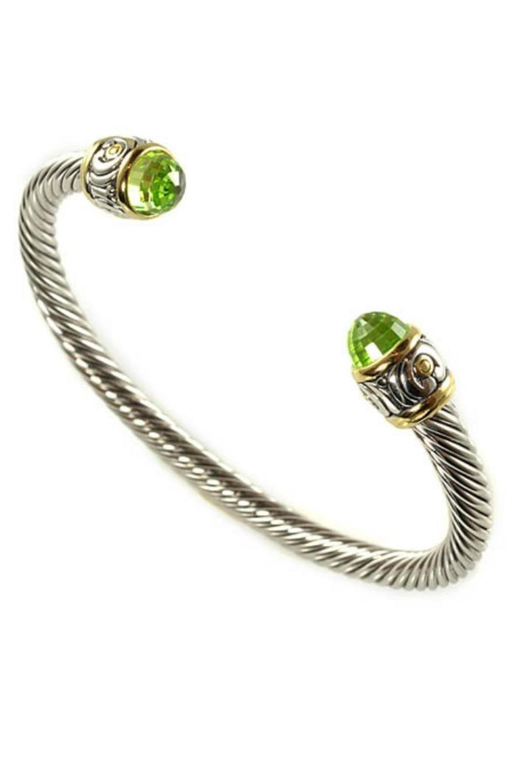 John Mederios Large Wire-Cuff Peridot - Front Cropped Image