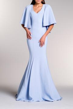John Paul Ataker Cape Sleeve Gown - Product List Image