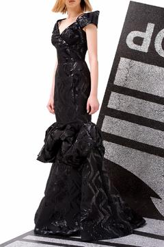 John Paul Ataker Off Shoulder Black Gown - Product List Image