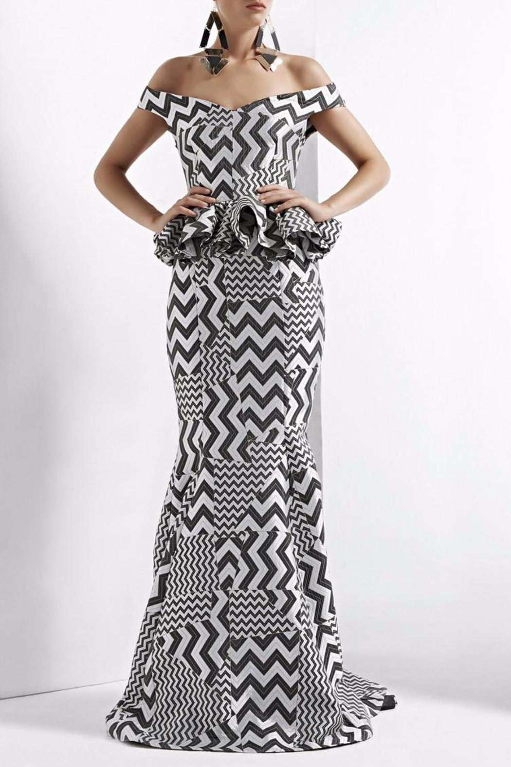 John Paul Ataker Peplum Evening Gown from New Jersey by District 5 ...