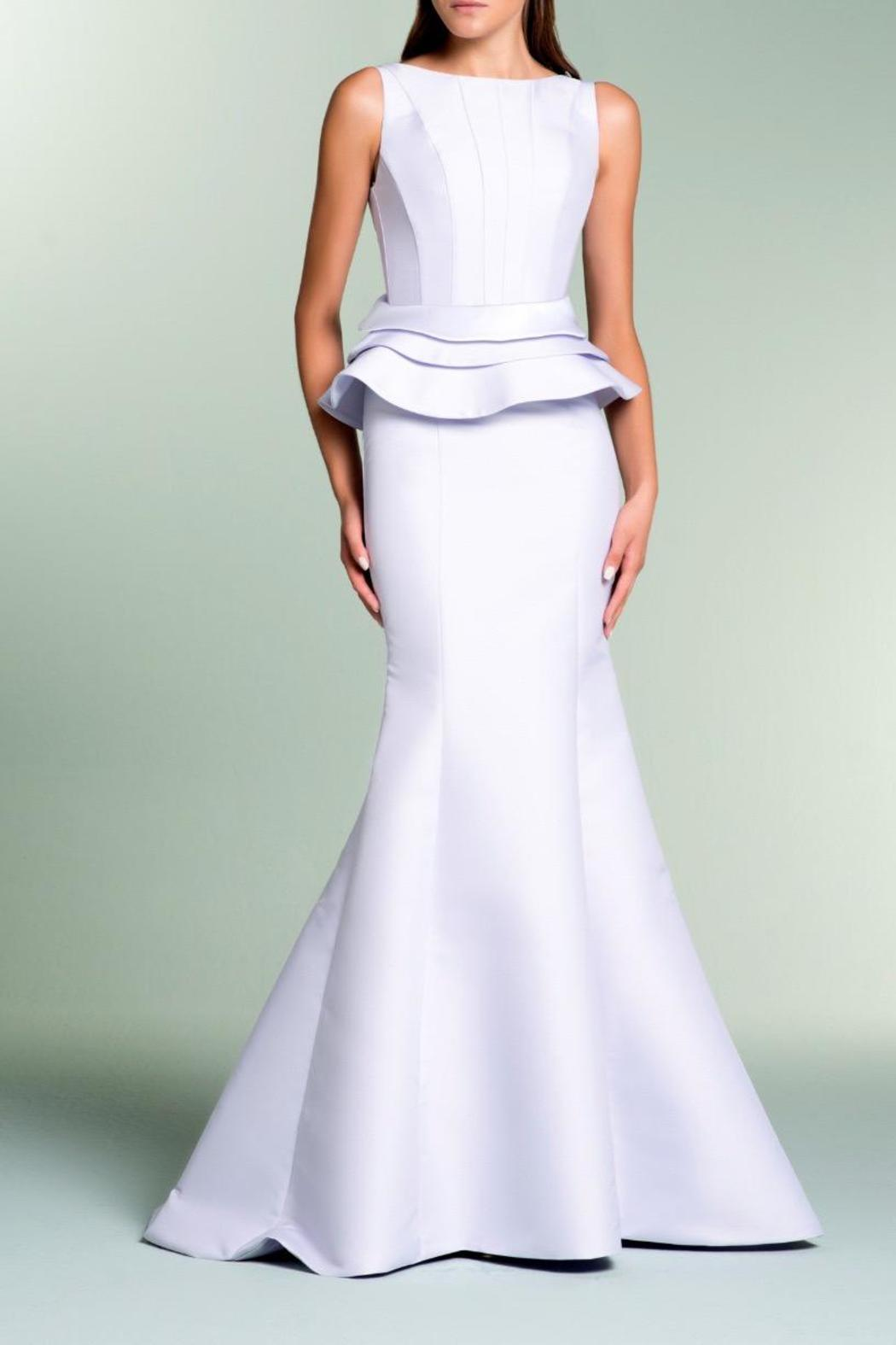 John Paul Ataker Sleeveless Taffeta Gown - Front Cropped Image