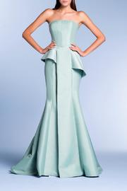 John Paul Ataker Strapless Taffeta Gown - Product Mini Image