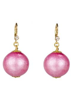 Shoptiques Product: Pink Cotton-Pearl Earrings