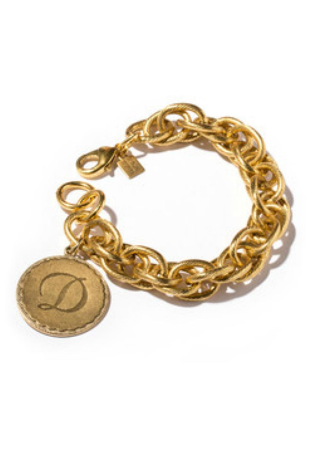John Wind Maximal Art Sorority Gold Initial Bracelet - Main Image