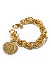 John Wind Maximal Art Sorority Gold Initial Bracelet - Product Mini Image