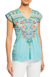 Johnny Was Embroidered Tee - Front cropped