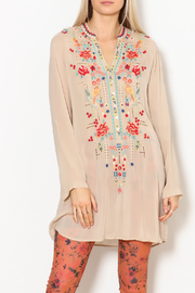 Johnny Was Eyelet Garden Tunic - Front full body