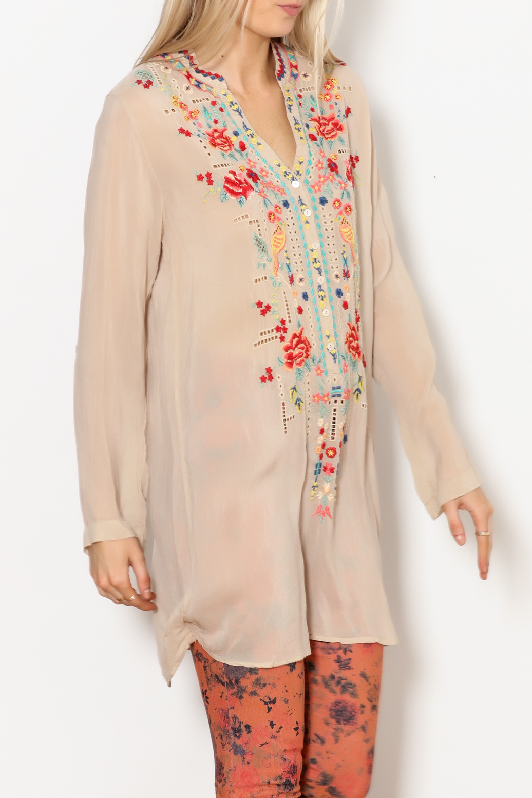 Johnny Was Eyelet Garden Tunic - Main Image