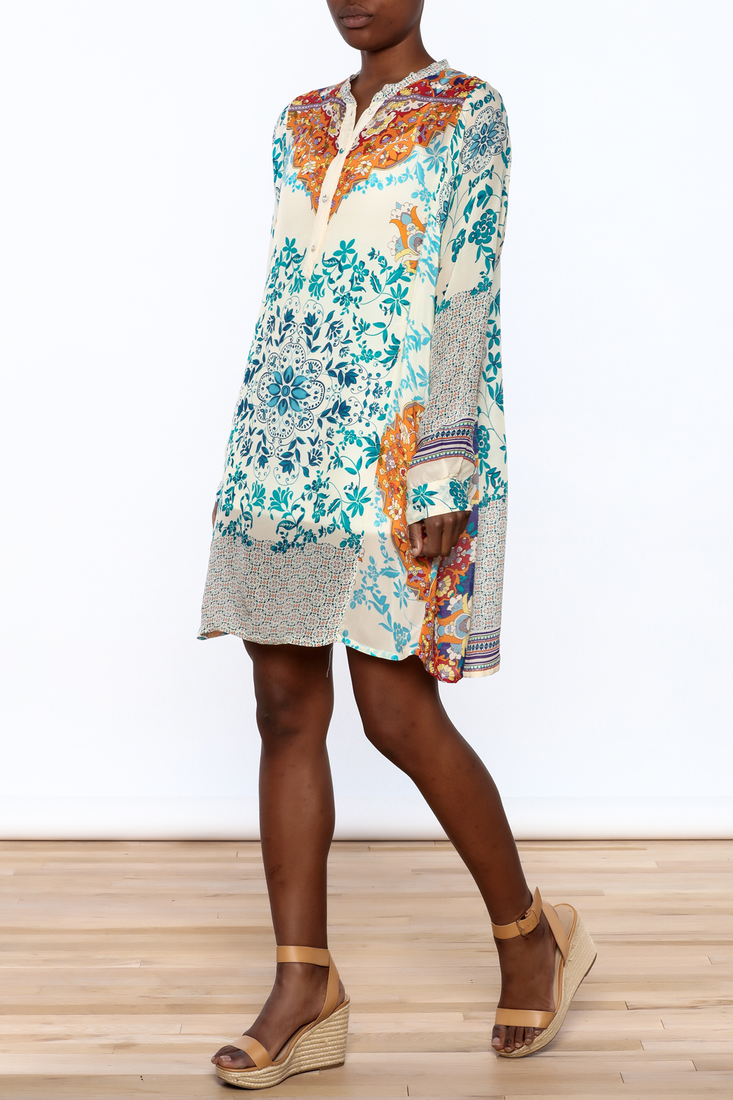 Handkerchief Print Dress