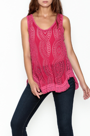 Johnny Was Hoxie Eyelet Tank - Front cropped