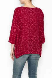 Johnny Was Jossy Sangria Top - Back cropped