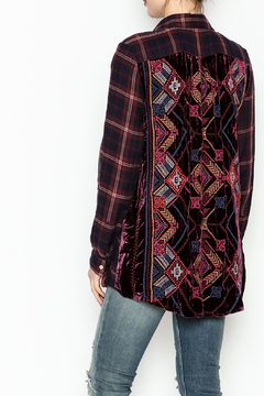 Johnny Was Maui Velvet Embroidered Shirt - Alternate List Image