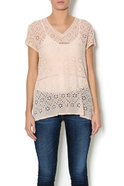 Johnny Was Pink Tiered Eyelet Top - Product Mini Image