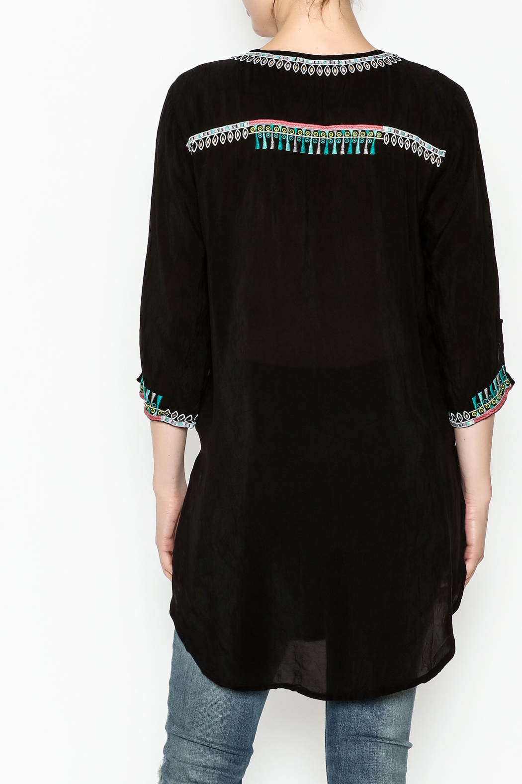 Johnny Was Zivelly Embroidered Tunic - Back Cropped Image
