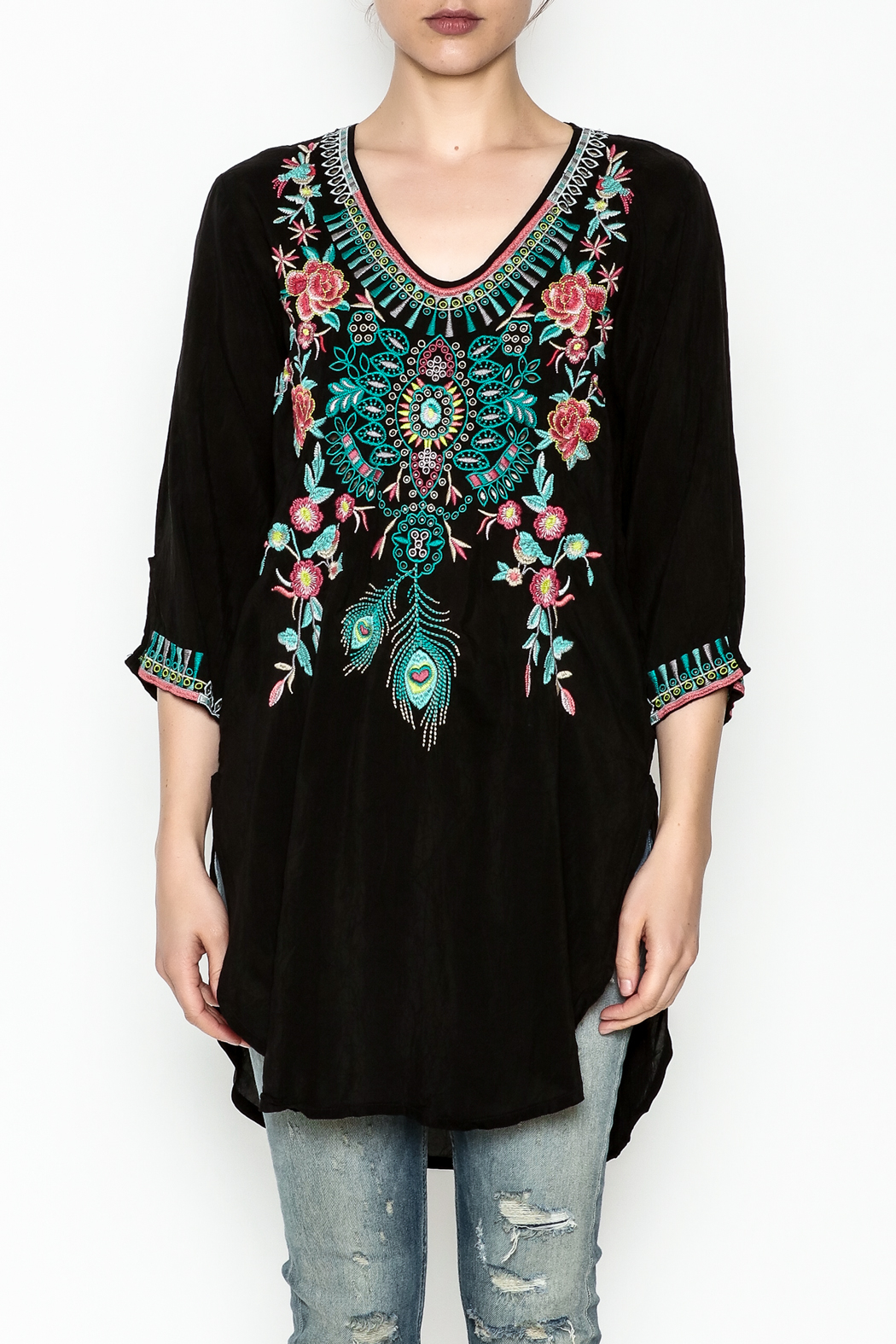 Johnny Was Zivelly Embroidered Tunic - Main Image