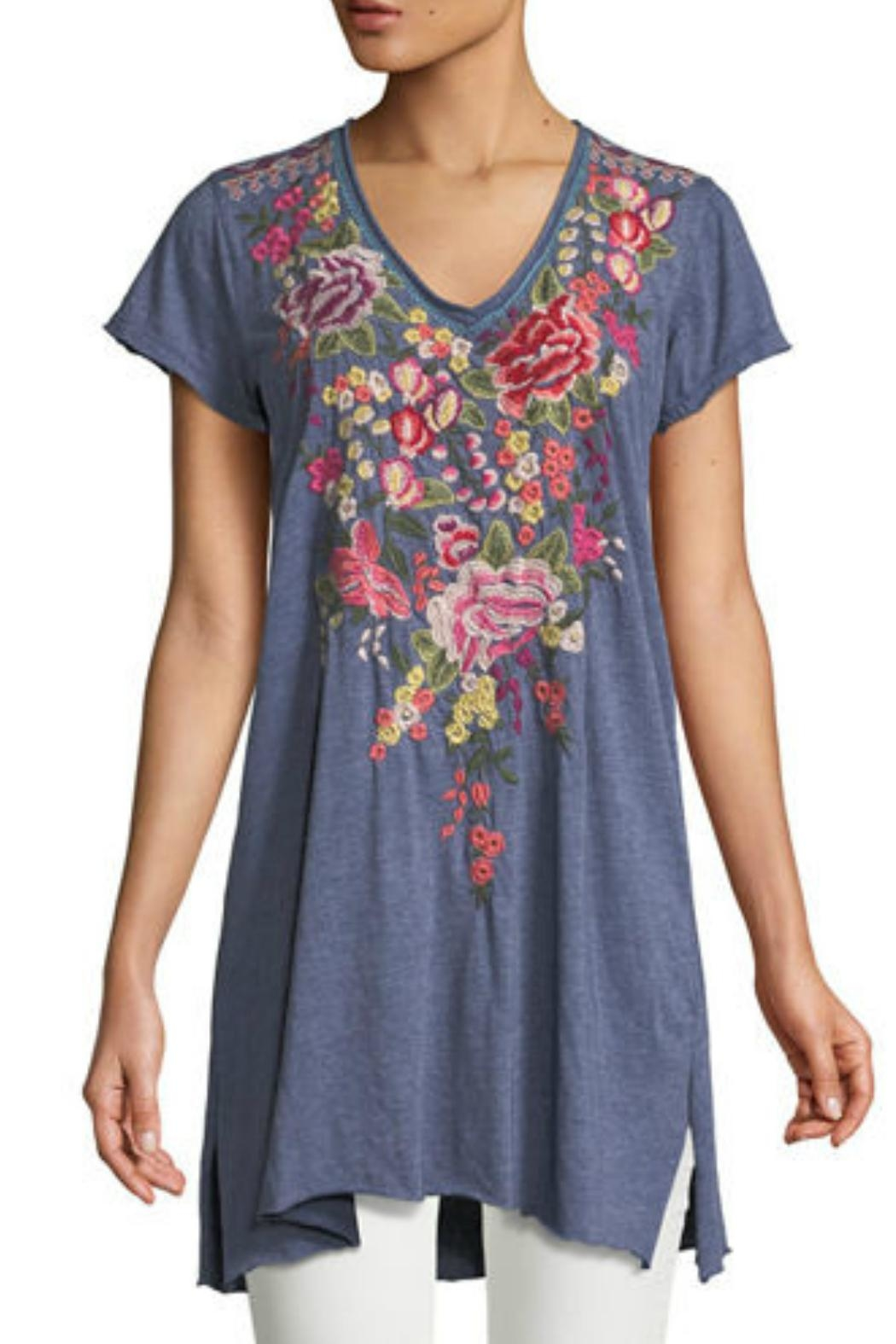 Johnny Was Adeline Embroidered Tunic - Front Cropped Image
