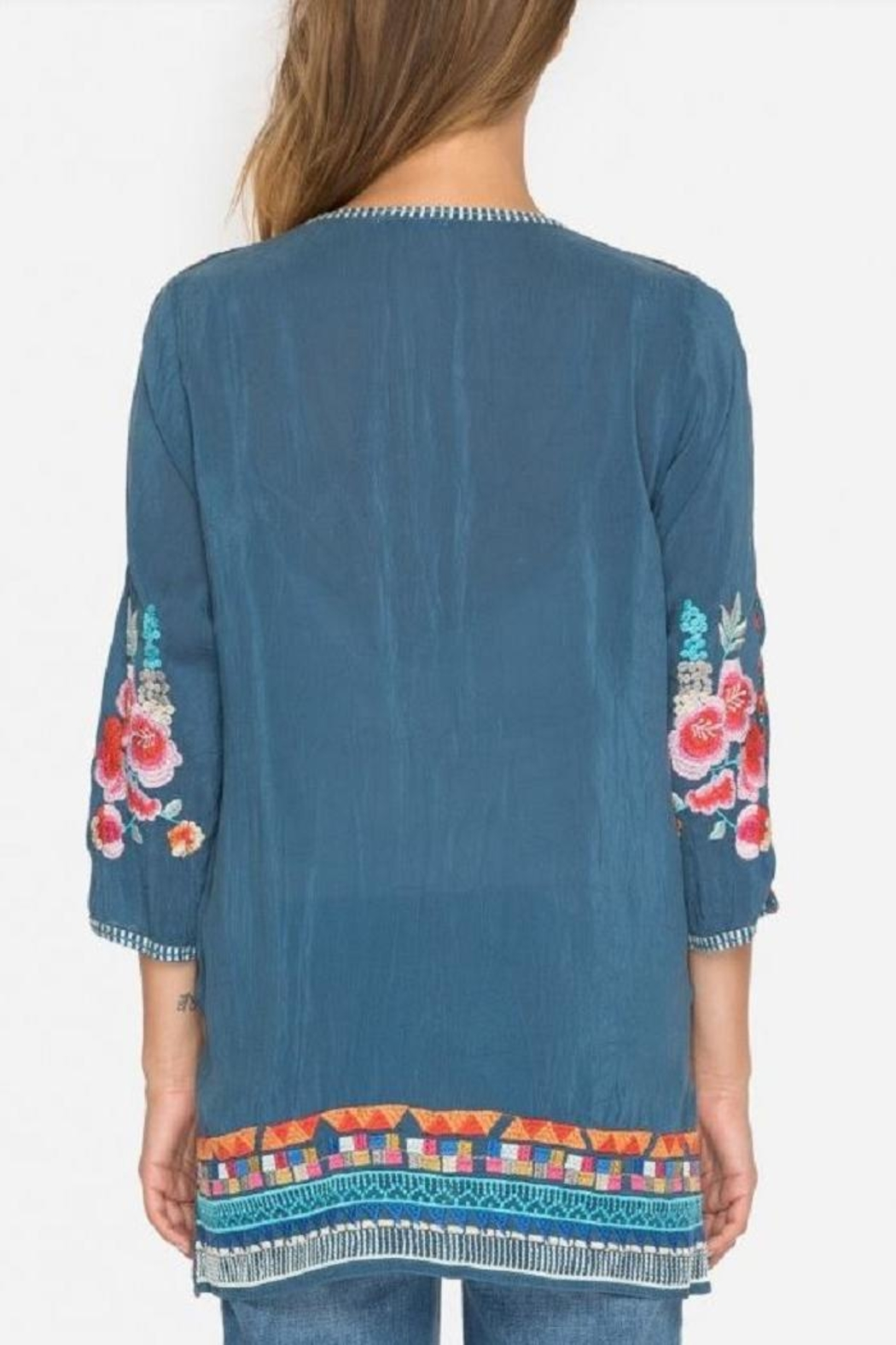 Johnny Was Araxi Evening Tunic - Front Full Image