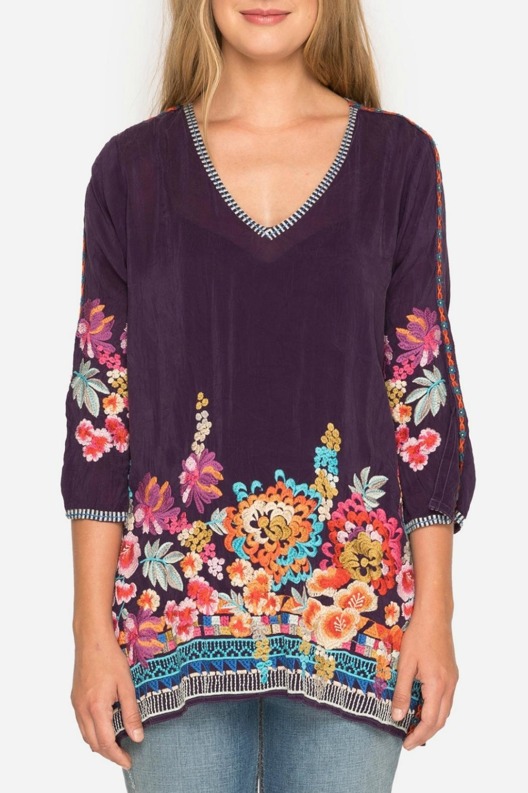 Johnny Was Berry Multi Tunic - Front Full Image