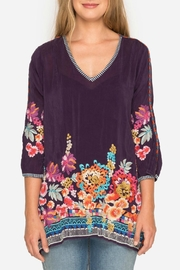 Johnny Was Berry Multi Tunic - Front full body