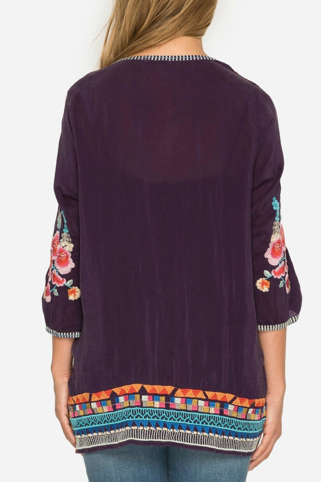 Johnny Was Berry Multi Tunic - Side Cropped Image