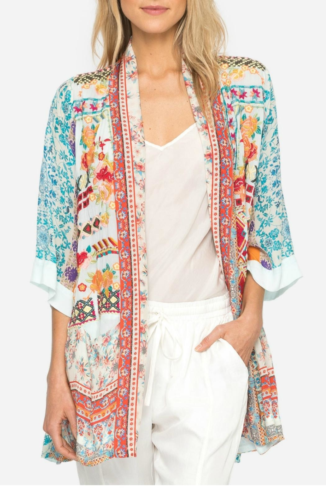 Johnny Was Betimo Silk Kimono - Front Cropped Image
