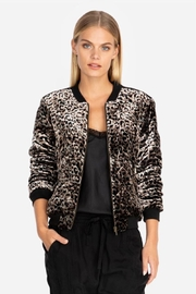 Johnny Was Black Leopard Bomber - Product Mini Image