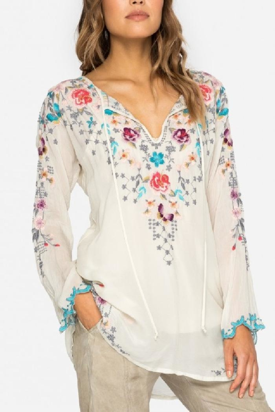 Johnny Was Butterfly Winter Blouse - Main Image