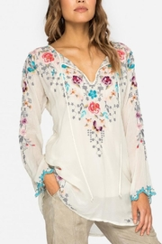 Johnny Was Butterfly Winter Blouse - Front cropped