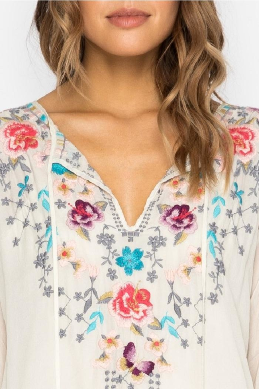 Johnny Was Butterfly Winter Blouse - Side Cropped Image