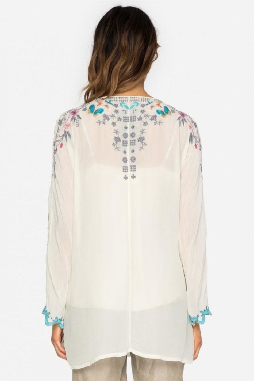 Johnny Was Butterfly Winter Blouse - Front Full Image
