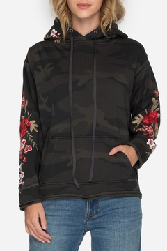 Shoptiques Product: Camo Embroidered Hoodie